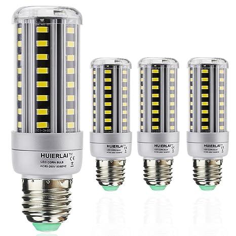 4x E27 12W Bombilla LED Lámpara Luz de Maíz La luz blanca 6000K Ángulo de Haz 360° 1205 Lumen Sustituye la lámpara Halógena de 80-100W aplica a ...