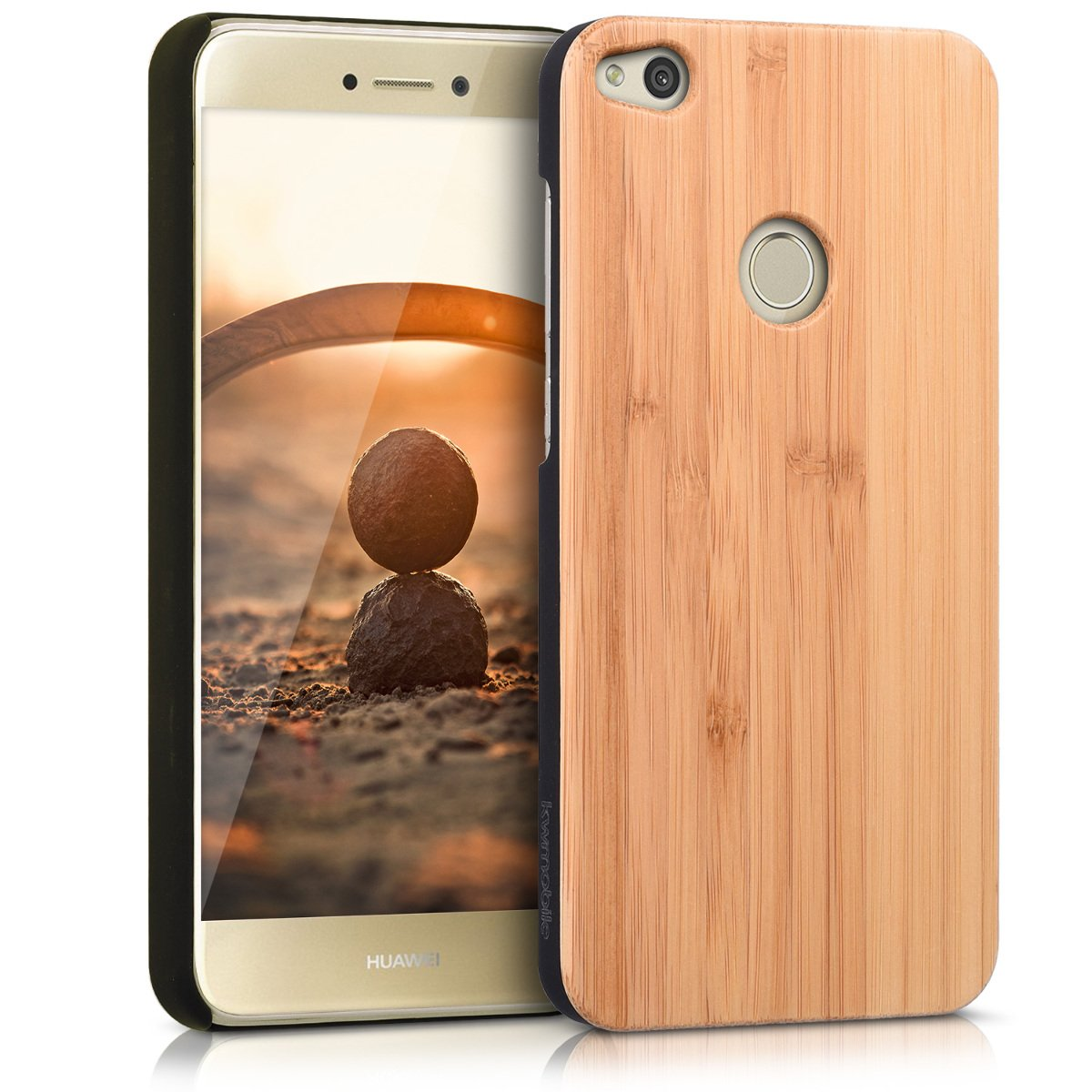 Amazon.com: kwmobile Huawei P8 Lite (2017) Wood Case - Non ...