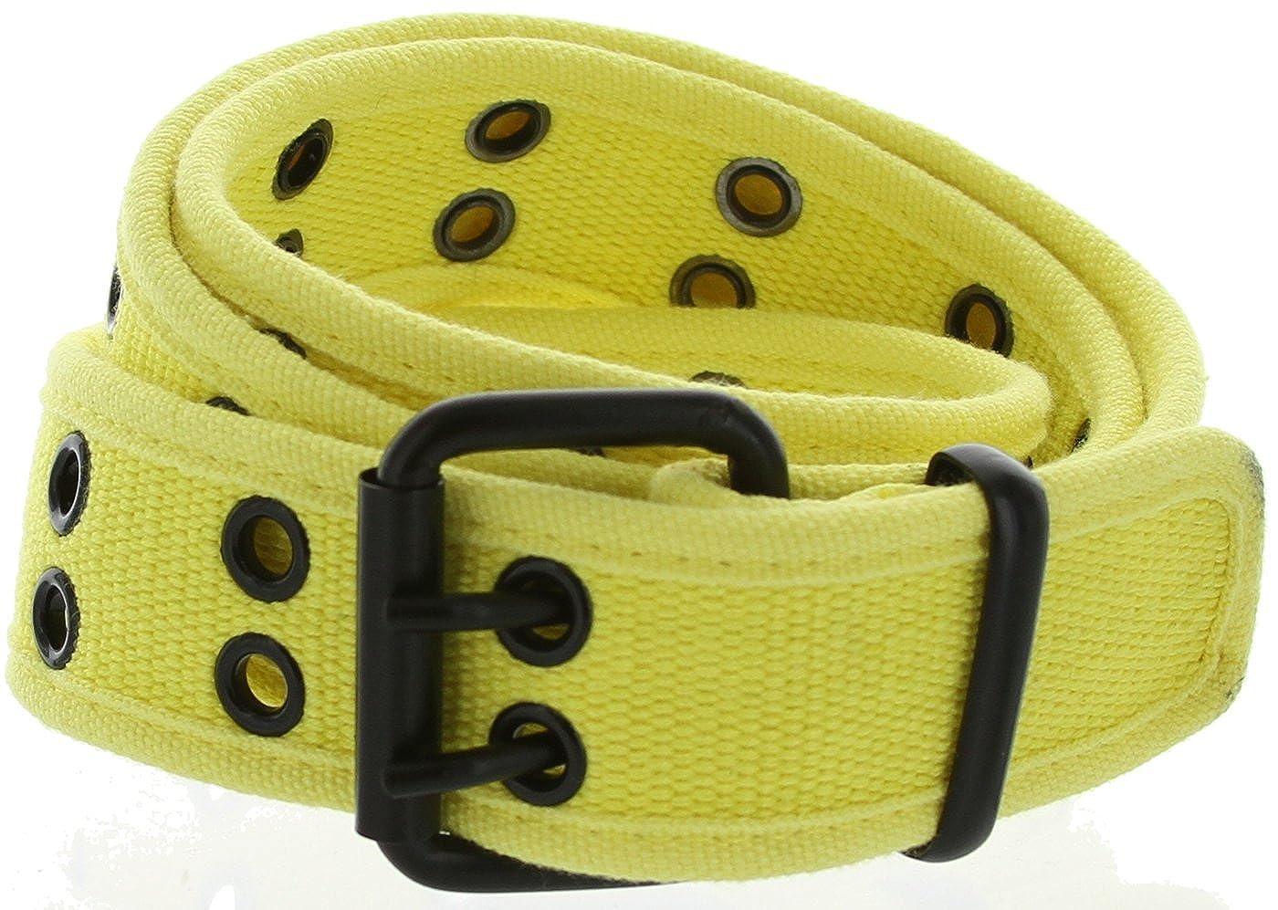 Double Hole Grommets Soft Fashion Color Canvas Web Belts