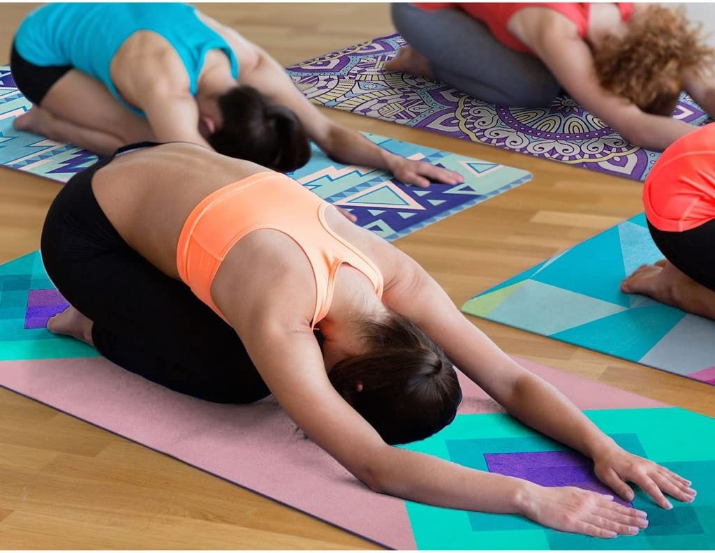 Amazon.com: Aili - Alfombrilla de yoga plegable de goma ...