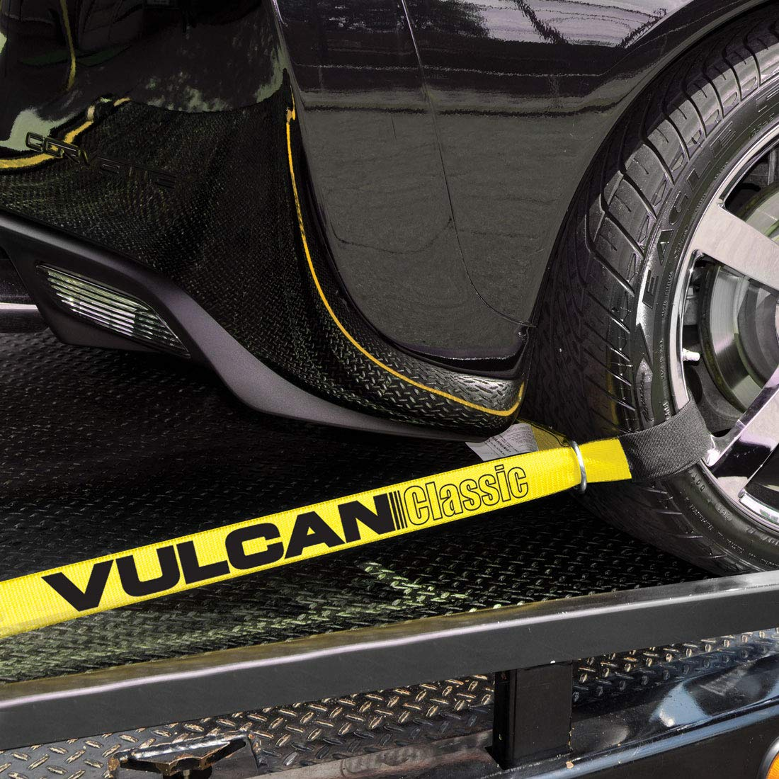 Vulcan Classic Yellow 2 X 12 Loop Exotic Car Tie Down Downs Automotive Wiring Harness Straps Includes Four 144