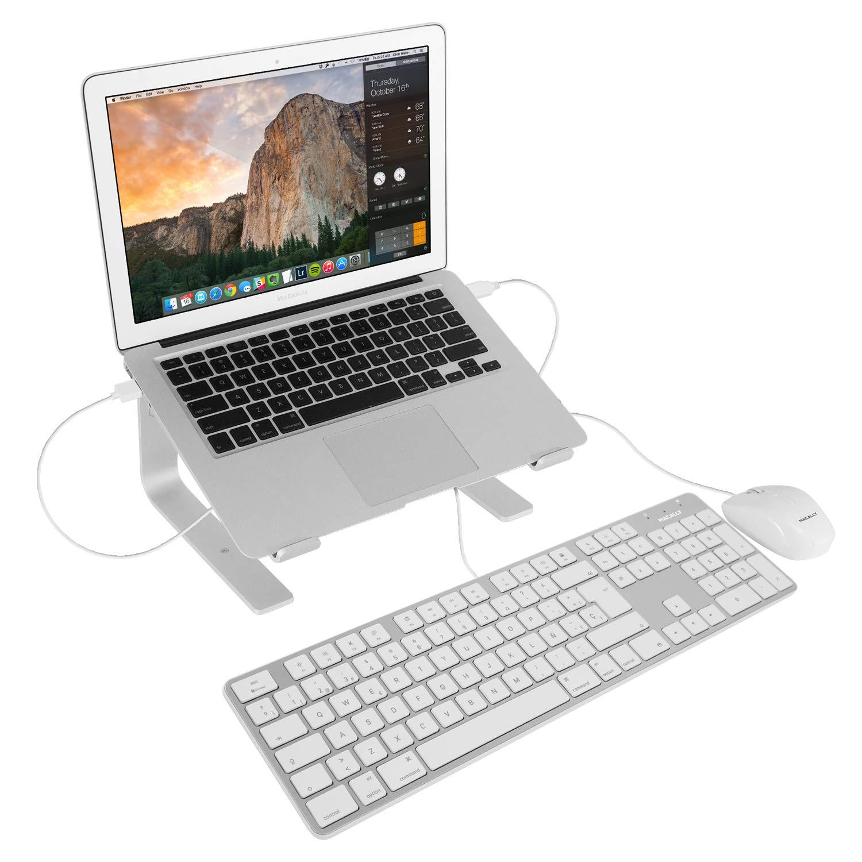 Amazon.com: Macally Spanish Ultra-Slim USB Wired Keyboard with Number Pad (Espanol Teclado para Mac Alambrico USB y Con Teclado Numérico) for Apple Pro, ...