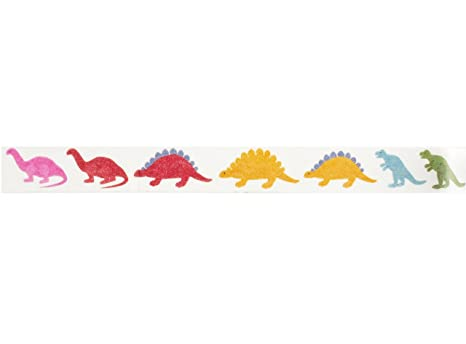 Amazon.com: Cinta adhesiva Dinosaur Washi (1 rollo – 9.0 in ...