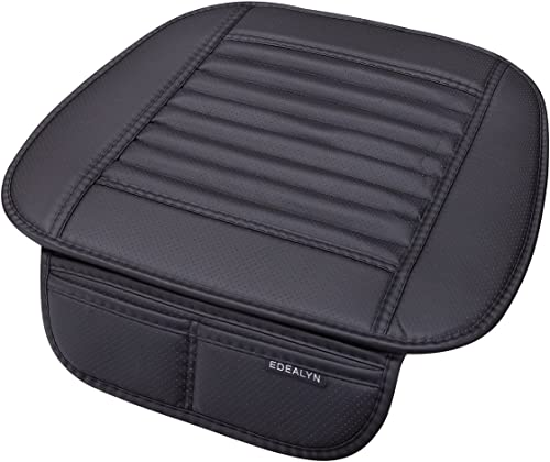 EDEALYN Four Seasons General Pu Leather Bamboo Charcoal Car Seat Cushion Cover