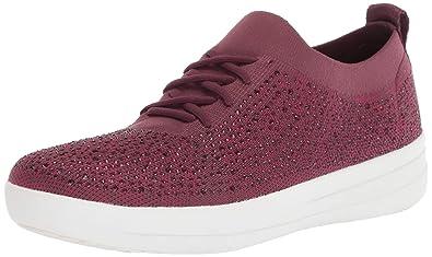 069cb3604 FitFlop Women s F-Sporty Uberknit Sneakers-Crystal Trainers