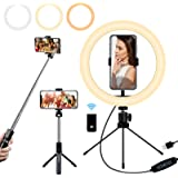 """Mansso Selfie Ring Light with Stand and Phone Holder, 10"""" USB Mini Led Ring Light for iPhone and Android Phone with…"""