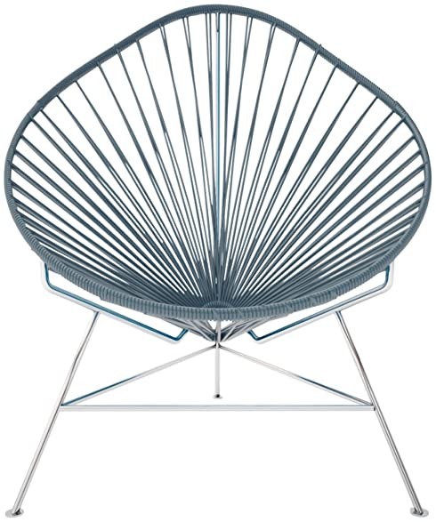 Beautiful Innit Baby Acapulco Chair   Grey Weave/ Chrome Frame