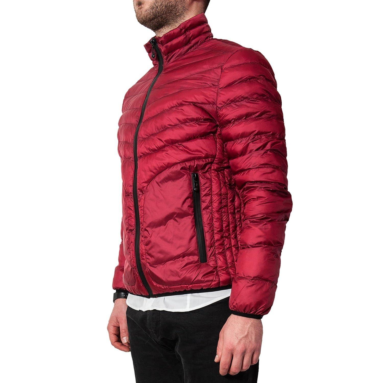 Piumino Uomo 100 Grammi Rosso Giubbotto Primaverile Estivo Giubbino  Elegante Casual Giacca a Vento Corta Bomber (XXL)  Amazon.it  Abbigliamento 7ac7f1494de