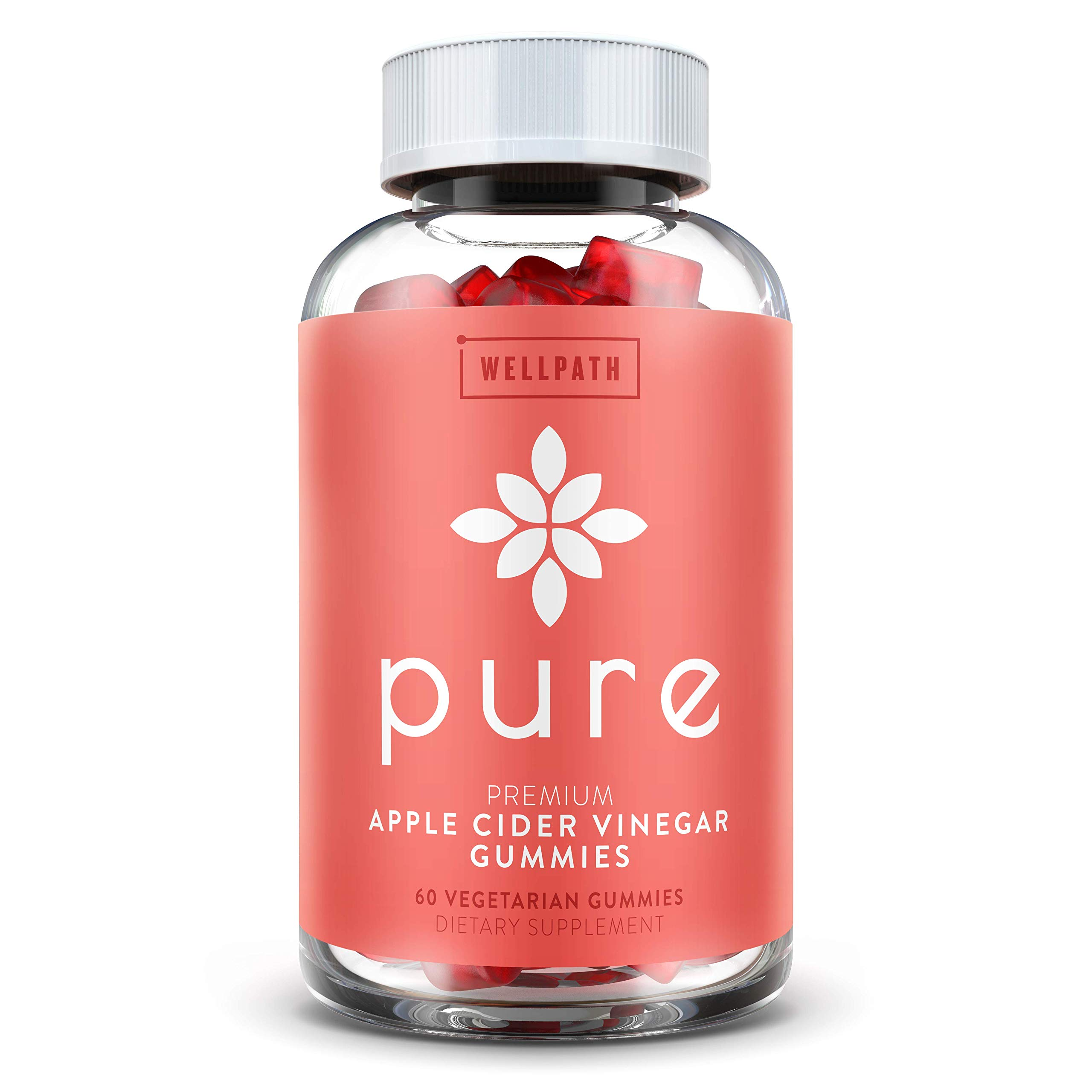 Pure Apple Cider Vinegar Gummies - with Raw, Organic, Unfiltered ACV from The Mother - Gummy Alternative to Apple Cider Vinegar Capsules, Pills, Tablets - Detox, Cleanse Support, Immunity by WellPath