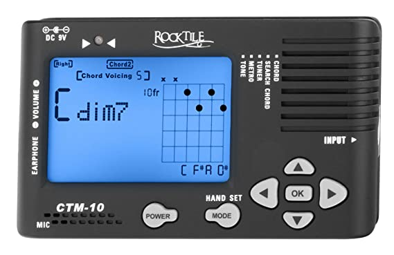 Rocktile Ctm 10 Chord Findertunermetronome All In One Device For