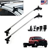 """For Ford F-150 F-350 F-450 47""""(120cm) Car Top Luggage Cross Bar Roof Rack Carrier Skidproof Rails with 3 Kinds of Clamps"""