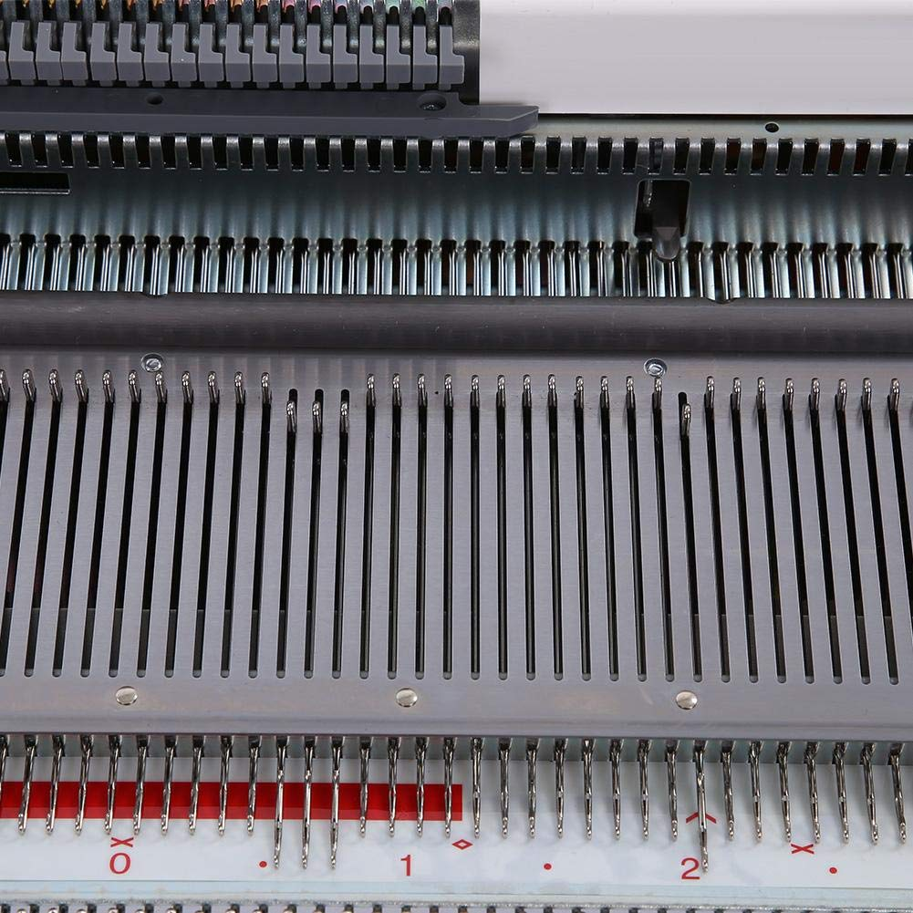 Akozon Sweater Knitting Machine 4.5mm Standard Gauge Plastic Knitting Machine for Silver Reed SRP50 SRP60 SRP60N for Stockinet, Tuck, Slip, Fairisle, Thread Lace, Knit Weaving, and Plating by Akozon (Image #7)