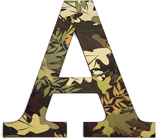 Personalised Cushion boys name army camo camouflage birthday gift letter initial