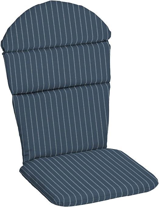 Dark Blue Outdoor Patio Adirondack Chair Cushion Seasonal Replacement Pad