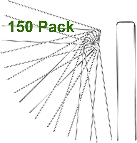 Zoutog Landscape Staples 150 Pack 6 Inch Landscape Fabric Stakes Staples For Securing Sod Ground Ground Cover Pets Fences Weed Barrier Fabric Tarps Wires Amazon Ca Patio Lawn Garden