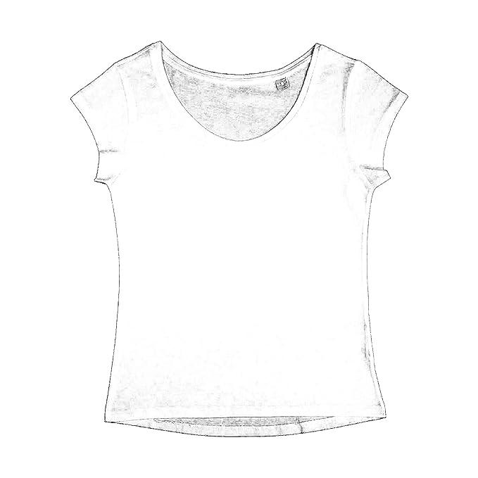 Nakedshirt - Camiseta de Manga Corta de algodón orgánico Modelo Helen para Mujer: Amazon.es: Ropa y accesorios