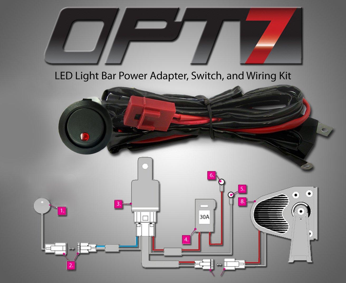 Amazon.com OPT7 18w CREE Dually Off Road LED Spot Lights [4 Pack] 4  Heavy-Duty Waterproof Utility Work L& Pod - For ATV UTV Jeep - 1 Year Warranty ... : wiring off road lights - yogabreezes.com