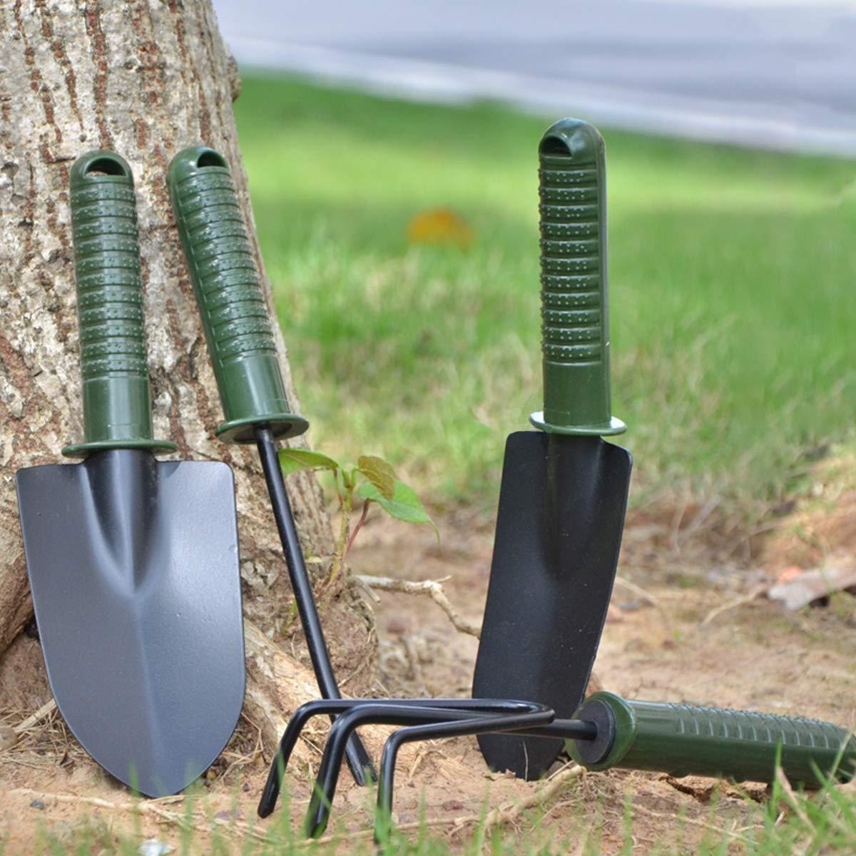 Natuce Juego de herramientas de jardiner/ía horquilla de maleza y m/áquina de desyerba que incluyen trasplante de hierba juego de 4 mini herramientas manuales para el cuidado de la siembra