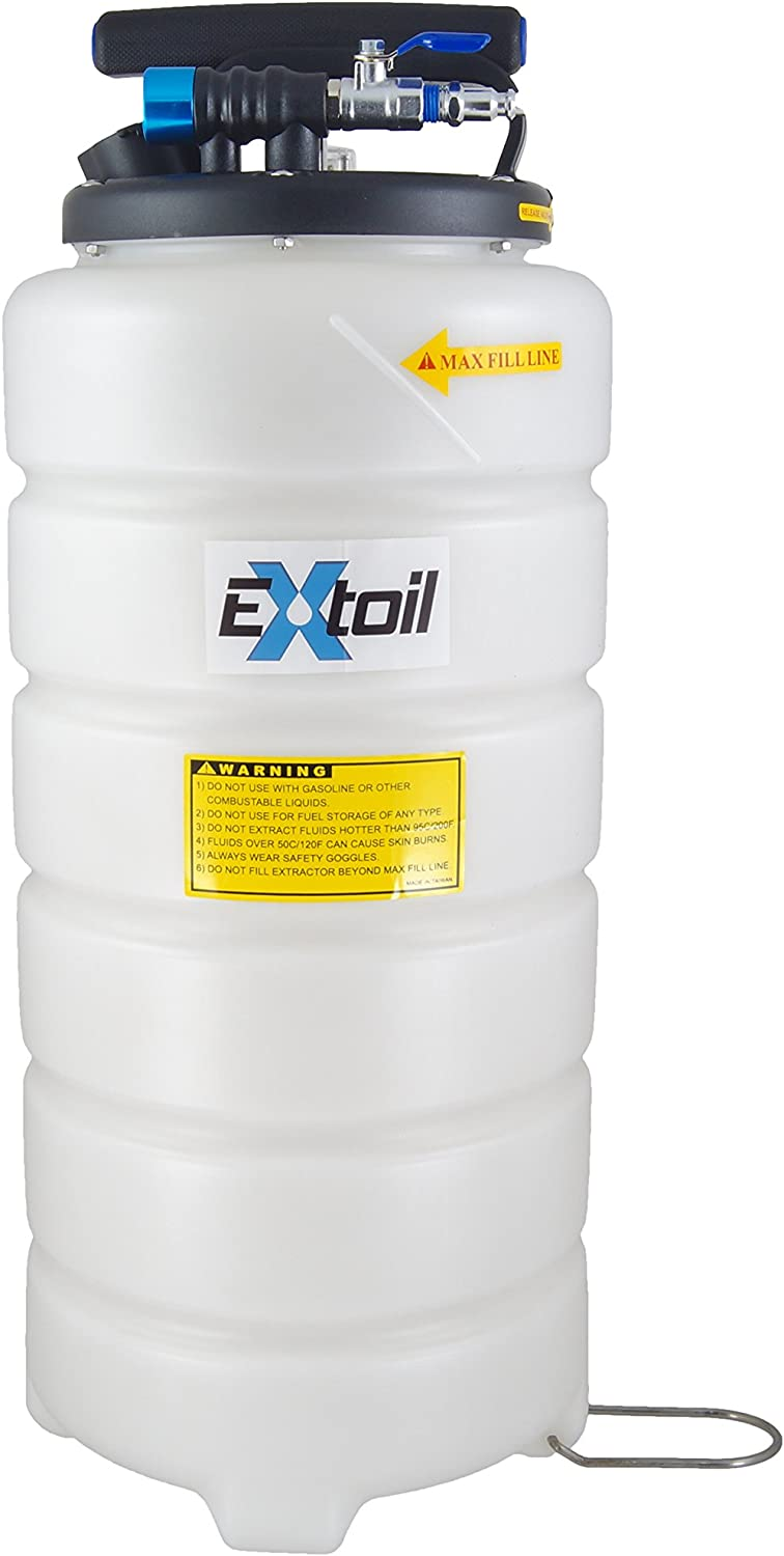 EXtoil 15 Liter Professional Pneumatic Oil Extractor