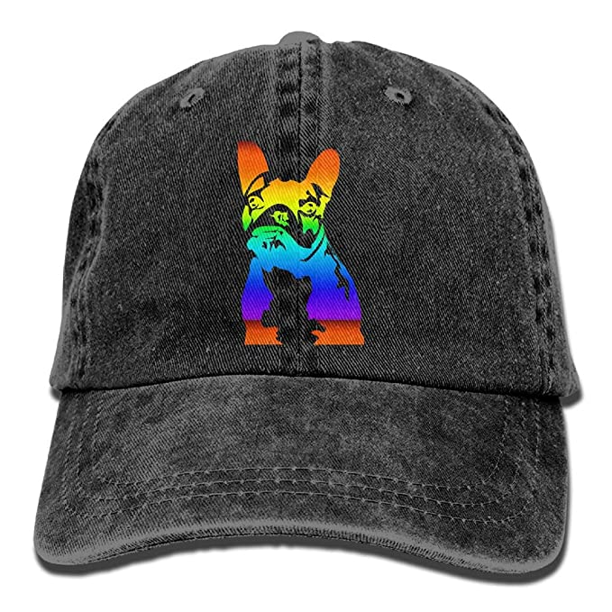 f24e7ffd6 Arsmt Cute French Bulldog.PNG Denim Hat Adjustable Women's Cute ...