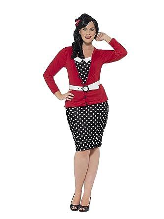 Amazon.com: Smiffy\'s Women\'s Plus Size 1950\'s Pin-up Costume: Clothing