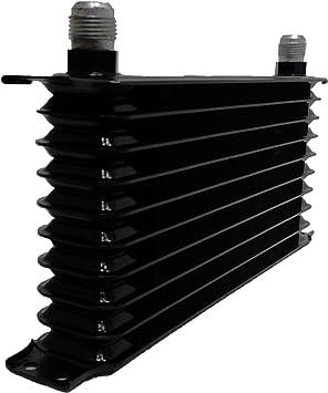 30 Row AN-10AN Aluminum Engine Transmission Oil Cooler Black 7//8-14UNF