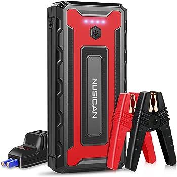 Nusican 12V Portable Car Jump Starter with Dual USB