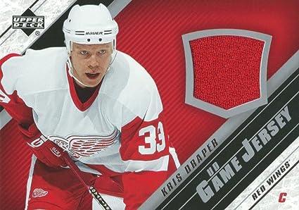 97cfc252f HCW) 2005-06 Upper Deck Game Jersey KRIS DRAPER NHL Hockey 00726 at ...