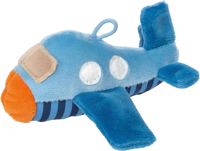 Sigikid 42551 Rassel RedStars Blau//Flugzeug