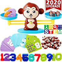 CozyBomB Monkey Balance Counting Cool Math Games - STEM Toys for 3 4 5 Year olds Cool Math Educational Kindergarten - Number Learning Material for Boys and Girls