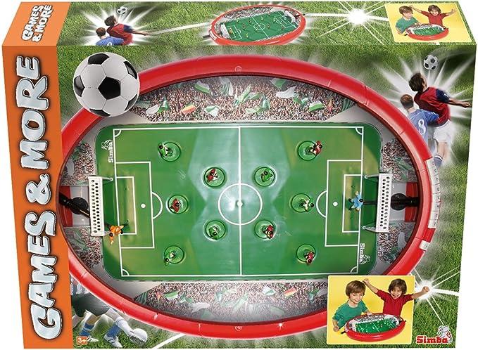 Simba Soccer Arena Mesa Interior fútbol de Mesa - Futbolín (Mesa, Rojo, Interior, Verde, Multi, Brillo): Amazon.es: Juguetes y juegos