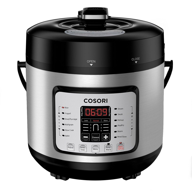 COSORI Mini 2.1 Qt 7-in-1 Multi-Functional Programmable Pressure Cooker, Slow Cooker, Rice Cooker, Sauté, Steamer, Yogurt Maker & Warmer, Includes Glass Lid, Sealing Ring and Recipe Book Sauté 8.17915E+11