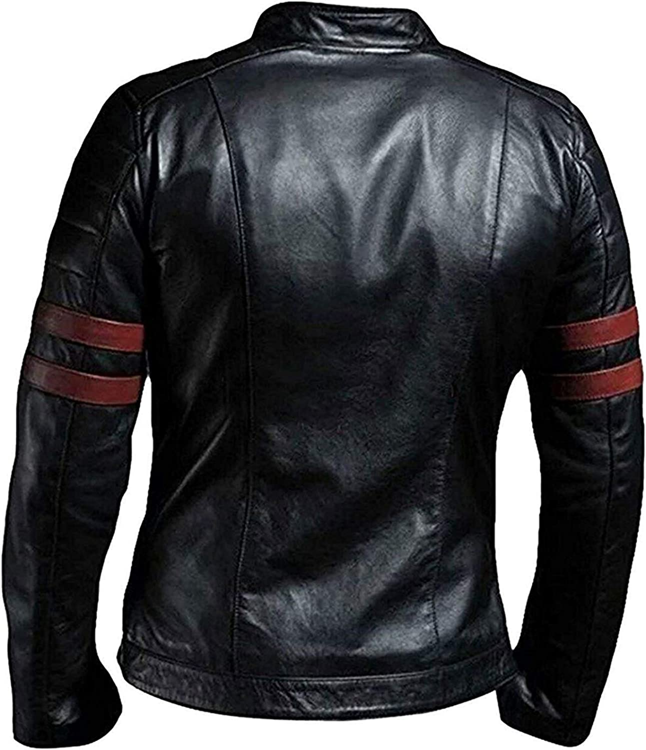 Men Fight Club Brad Pitt Tyler Durden Retro Classic Style Black Leather Jacket