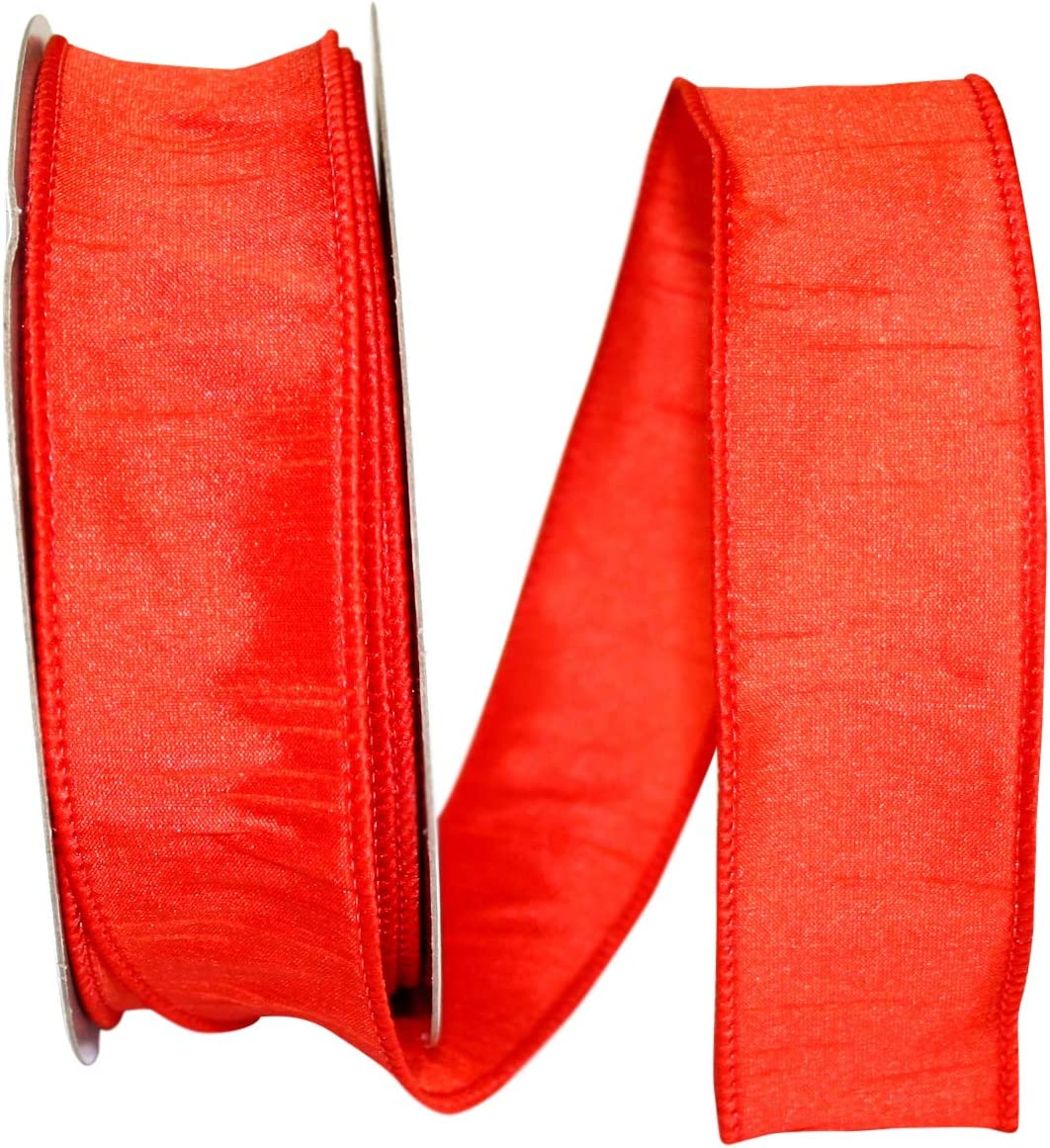 1-1//2 Inch X 10 Yards Pink Reliant Ribbon 92975W-061-09F Dupioni Supreme Wired Edge Ribbon
