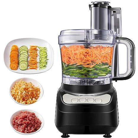 Procesador de Alimentos, Aicok Robot de cocina, 500W,1.8 Litros Cortador de Verdura