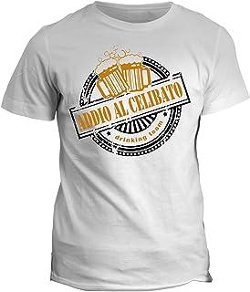 fashwork Tshirt Drinking Team- Addio al Celibato - Humor - in Cotone by fshY02