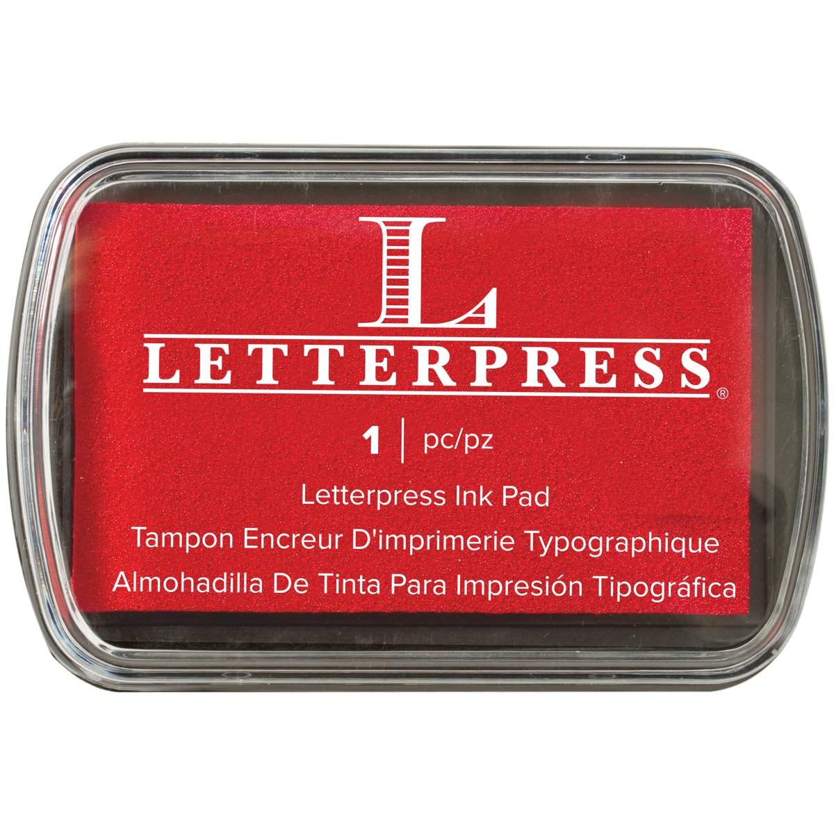 We R Memory Keepers Letterpress Tampone per inchiostro, colore: rosso 512469