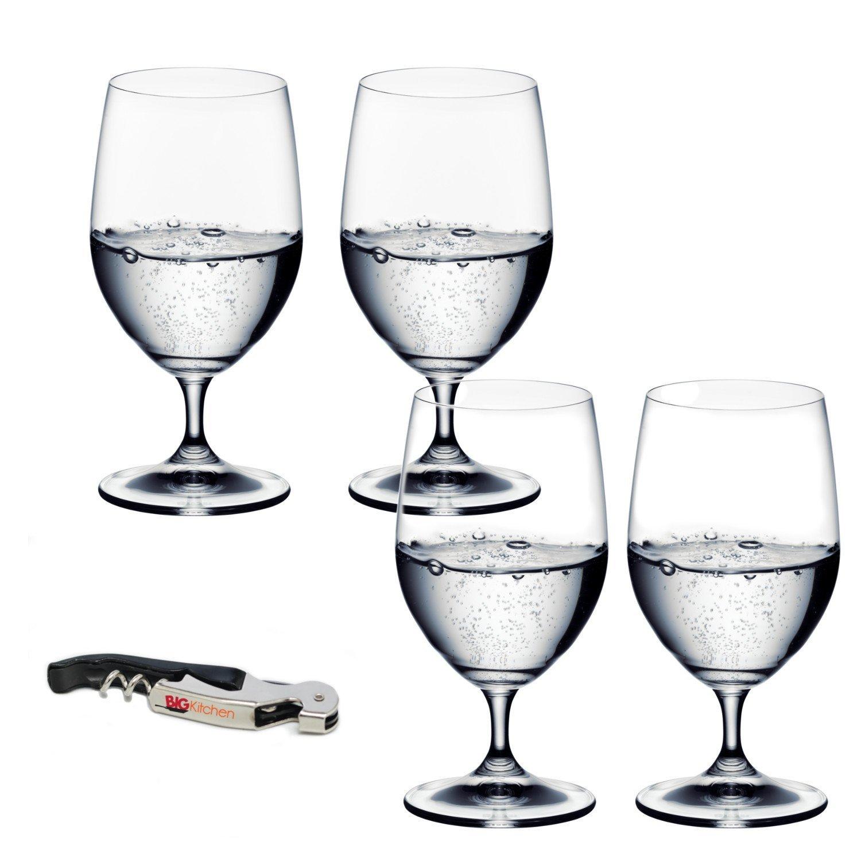 Riedel Ouverture 4 Piece Water Glass Set with Bonus BigKitchen Waiter's Corkscrew