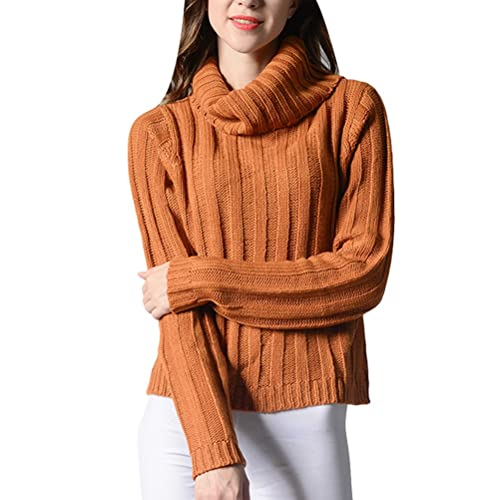 Zhhlinyuan Diseño de moda High Neck Sweater Round Neck Long Sleeve Weaving Autumn and Winter for Lad...