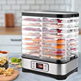 Food Dehydrator Machine, Digital Timer and Temperature Control (95ºF-158ºF), 8 Trays + 400W for Jerky/Meat/Beef/Fruit…