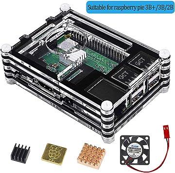 VSTON Raspberry Pi 3 B + Caja con Ventilador 3 Piezas ...