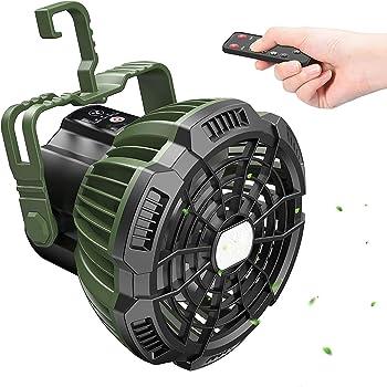 Tesoky 7800mAh Rechargeable Portable Tent Fan