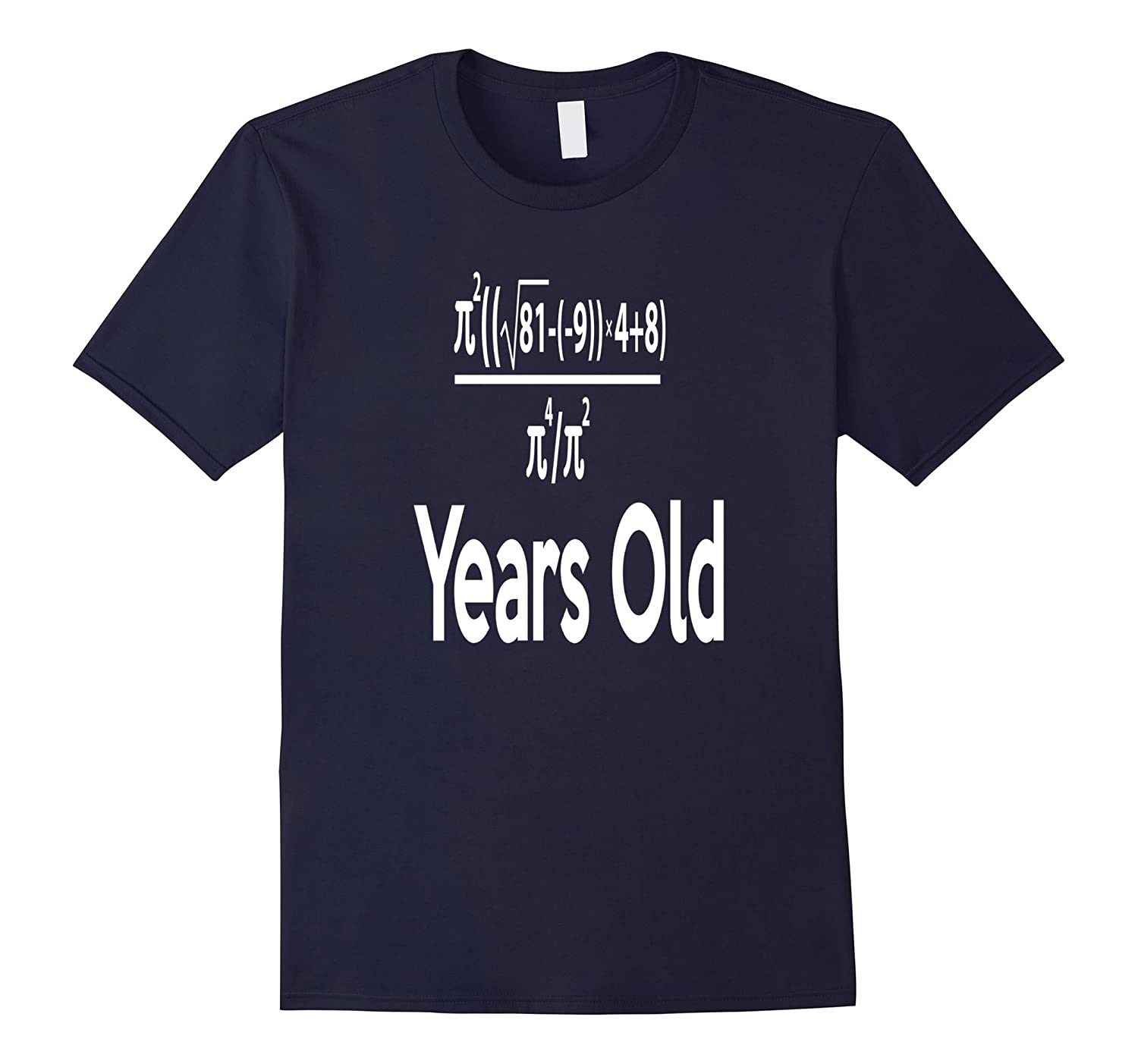 80 Years Old Algebra Equation Funny 80th Birthday Math Shirt-BN