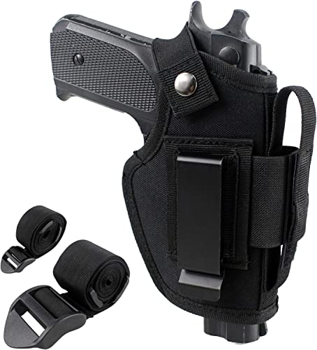 Depring Concealed Carry Holster IWB OWB Car Holster with Magazine Slot and 2 Strap Mounts for Right and Left Hand Draw Fits Subcompact to Large Handguns |...