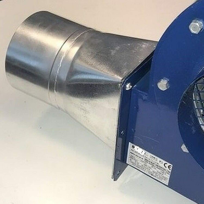 flangia e tubo flessibile in alluminio ventilatore centrifugo radiale Uzman-Versand OBR-200M Ventola radiale con regolatore del numero di giri