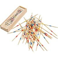 Simple Days Mikado Wooden 31 Pick Up Sticks Game Interactive Table Game Fun Family Indoor Board Game for Adults and Kids