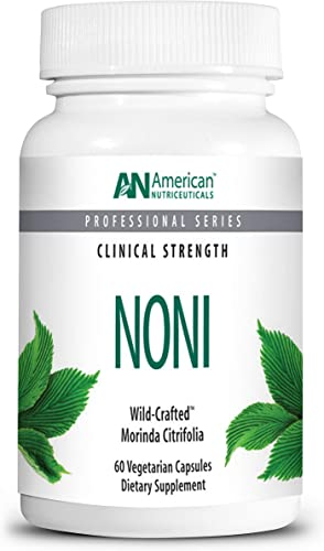 American Nutriceuticals Noni 60 Capsules Powerful Adaptogen for Balanced Energy 100 Freeze Dried Whole Fruit Powder