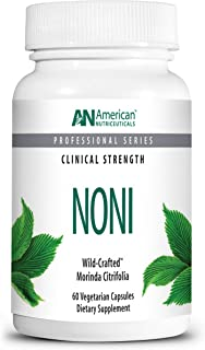 product image for American Nutriceuticals – Noni – 60 Capsules – Powerful Adaptogen for Balanced Energy – 100% Freeze–Dried Whole Fruit Powder