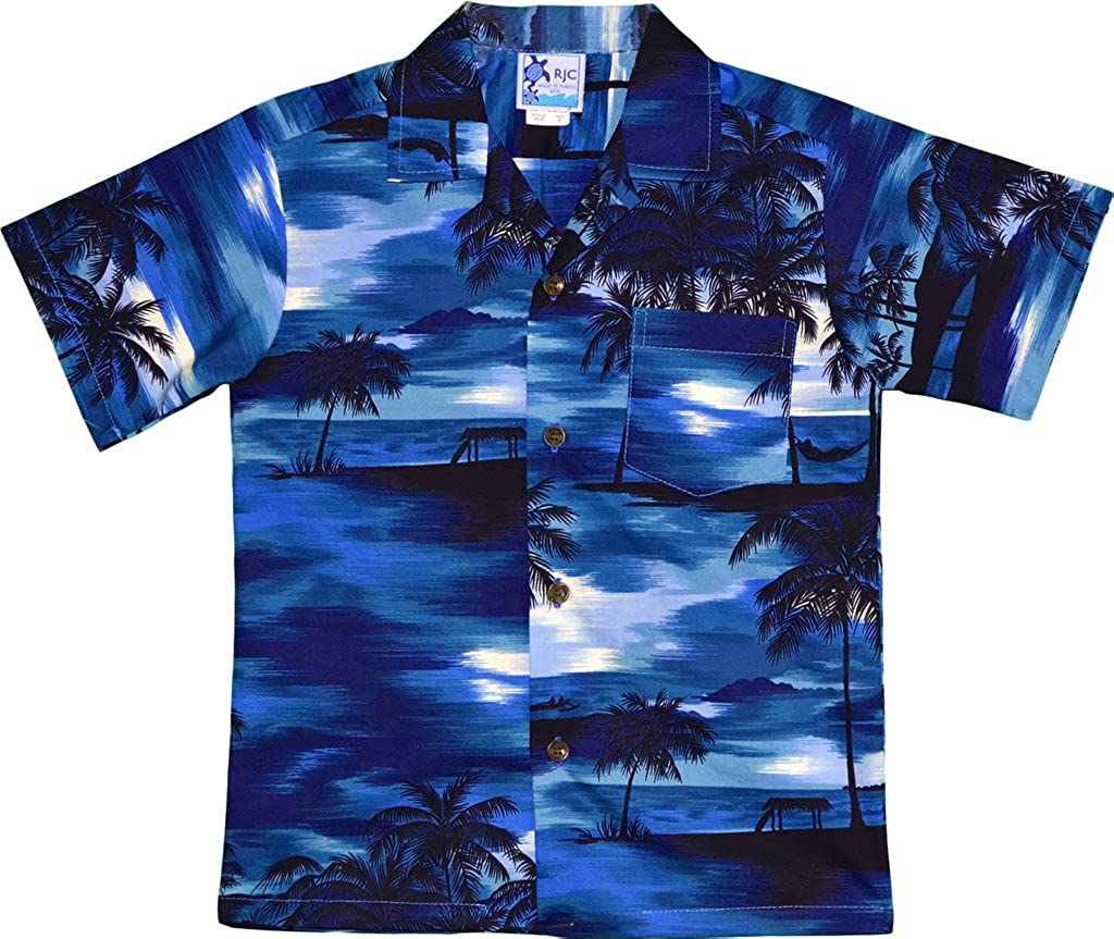 RJC Boy's Waimea Sunset Hawaiian Shirt B202-S41