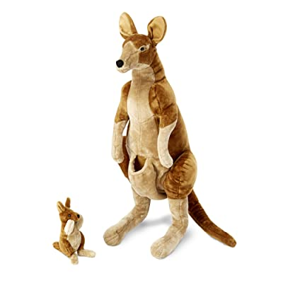 Melissa & Doug Giant Kangaroo and Baby Joey in Pouch - Lifelike Stuffed Animal (nearly 3 feet tall): Melissa & Doug: Toys & Games [5Bkhe0301328]